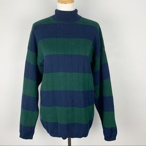 Blue and green vintage Talbots sweater